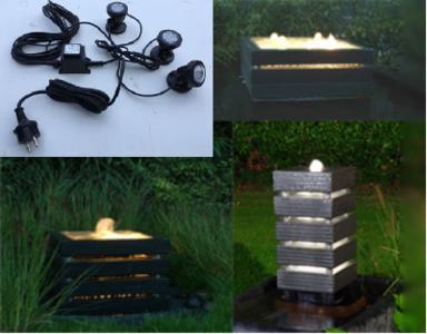 Verlichting set waterelement (30x30 50x50 70x70)